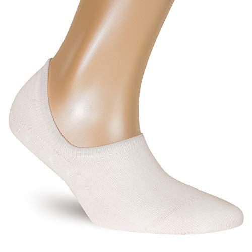 ALL ABOUT SOCKS Unsichtbare Sneaker Socken Damen weiß 35-38 - RUTSCHFEST - PREMIUM Sneakersocken - Ohne drückende Zehennaht (5er Pack)