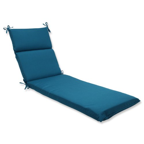 Pillow Perfect Outdoor/Indoor Spectrum Peacock Chaise Lounge Cushion, 72.5 in. L X 21 in. W X 3 in. D, Blue