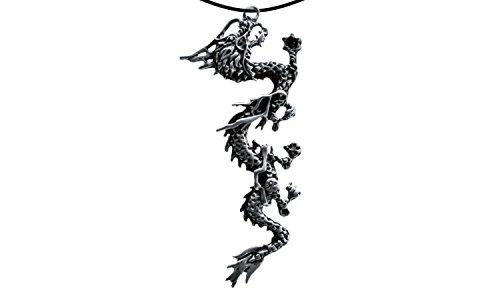 Erlebnis Mittelalter Drachenanhänger, verzinnt und nickelfrei (Anhänger Chin. Drache lang 2 Silber)
