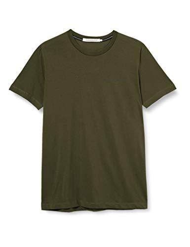 Calvin Klein Institutional Chest Logo SS tee Camisa, Deep Depth, L para Hombre