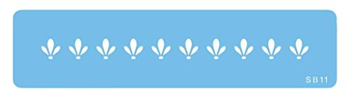 JEM Bordürenschablone mit Schneeglöckchen-Spitzenarbeit, Kunststoff, Blau, 15 x 1 x 15 cm