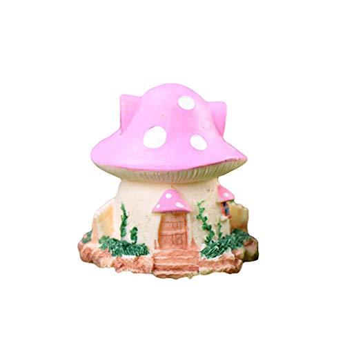 LC-Tools, casetta a Fungo in Resina Fai da Te in Miniatura per Bonsai, Decorazione da Giardino