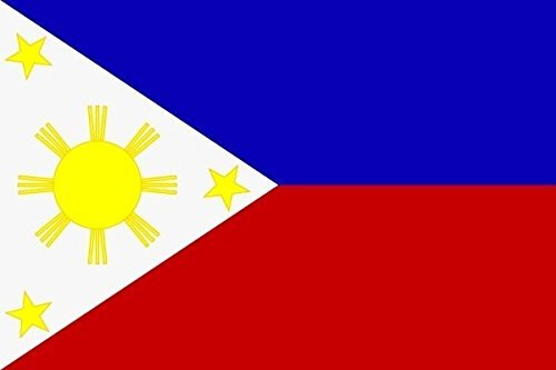 U24 Aufkleber Philippinen Flagge Fahne 12 x 8 cm Autoaufkleber Sticker