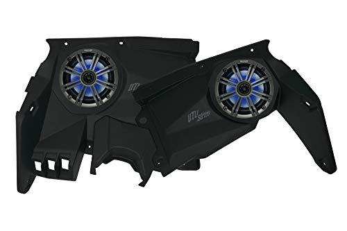 UTV Stereo Can-Am Maverick X3 6.5 inch Speaker Pods & Dash Kit. Get More Sound Out of Your Ride. (Dash Kit & Kicker LED Speaker)