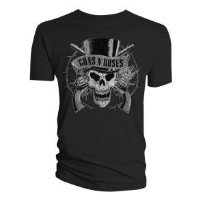 "Tee Shirt Homme Noir Guns'N'Roses ""Top Hat"" Taille L [Import belge]"