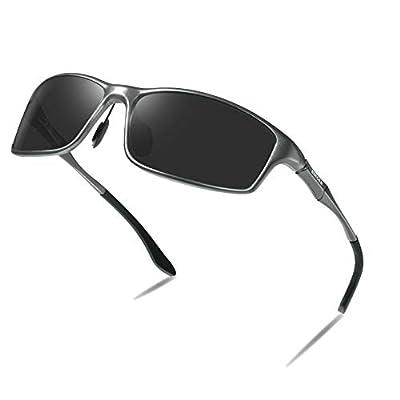 Bircen Mens Polarized Sports Sunglasses Driving Golf Fishing UV Protection Al-Mg Metal Frame Sunglasses for Men Women