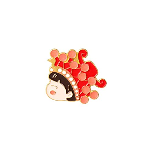MISS KANG Broches de Mujer Pines Pareja Brooch Groom Novio Camisa Pin Button Colllar Tarjeta Ropa Accesorios Boda Día de San Valentín Regalo Qingchunw (Color : Xz4975)