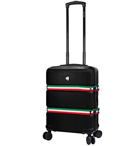 Mia Toro Nastro Spinner S Case 56 cm, Black (Black) - 841795144957