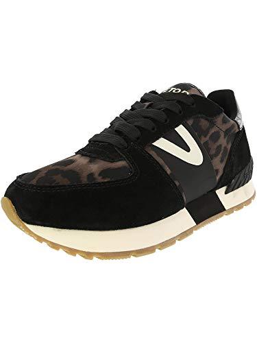 TRETORN Loyola 9 Sneaker aus Wildleder, Schwarz (Black/Grey Multi/Black/Black Suede/Nylon), 35.5 EU