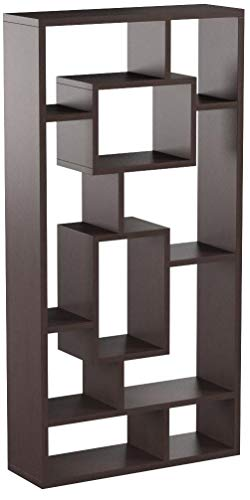 Coaster Home Furnishings 10-Shelf Bookcase, Cappuccino
