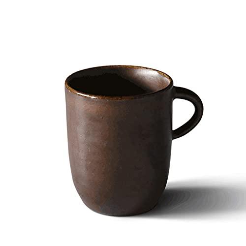 ZANZAN Taza de café de cerámica de la Vendimia, Taza de Taza de té Multifuncional de 250 ml, Taza de Bebidas Creativas para café té de Jugo de Leche, etc.-4 Colores (Color : Brown)