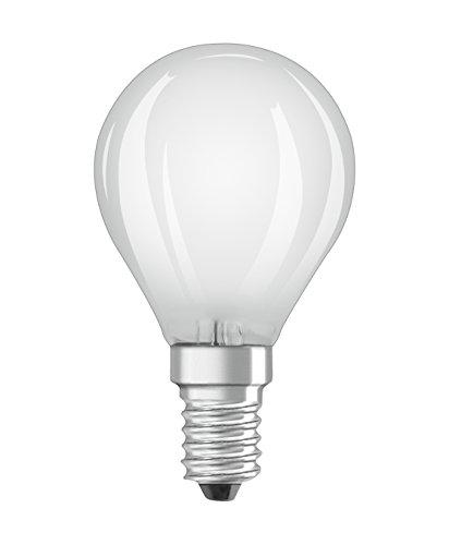 Osram LED Base Classic Lampada P / LED E14, 4 W, 40 W di ricambio, Warm White, 2 pezzi