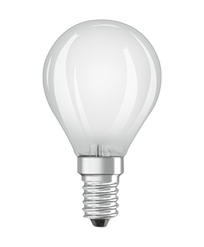 Osram LED Base Classic P Lampe, Sockel: E14, Warm White, 2700 K, 4 W, Ersatz für 40-W-Glühbirne, matt