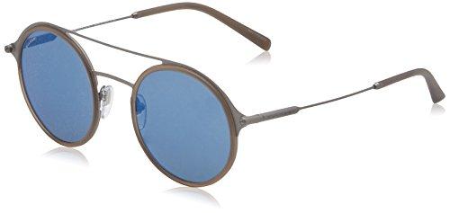 Bvlgari Herren BV5042 Sonnenbrille, Grau (Matte Grey/Dark Blue Mirror Blue), 50