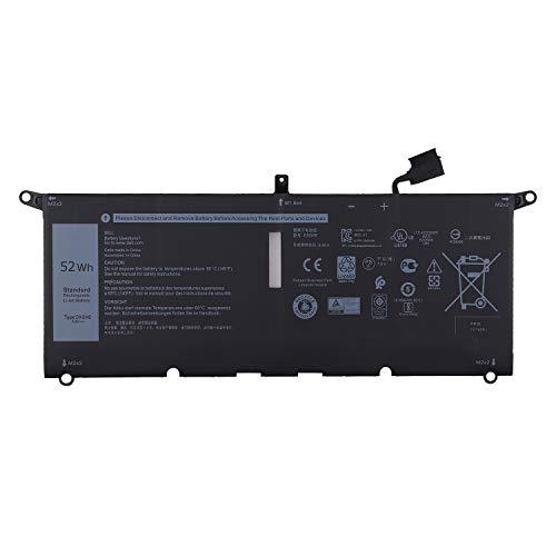 Vvsialeek DXGH8 - Batería para portátil compatible con XPS 13 9370 P82G001 7390 9380 2019 Inspiron 13