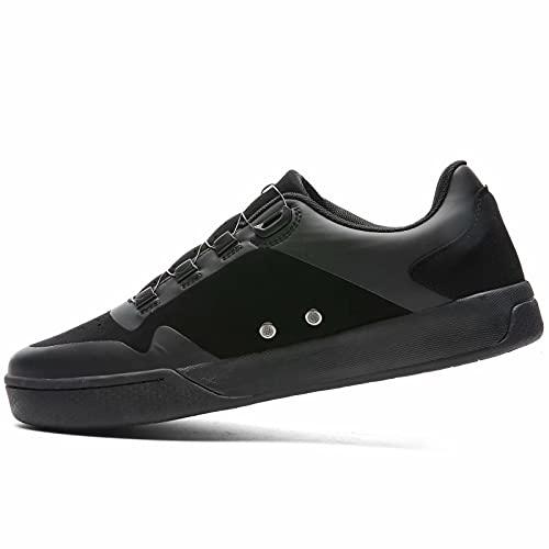 Sandugo Mountain Bike D/H SPD Zapatillas MTB Convertibles para Pedales Planos Zapatos Negro