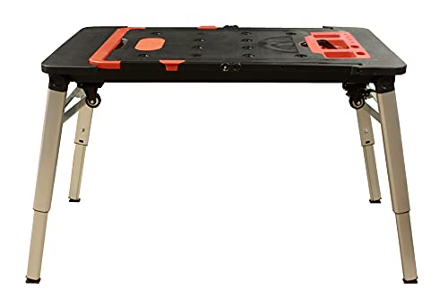 Banco de trabajo portátil multifunción 7 en 1, mesa, plataforma, carro plegable de 108,5x54,5x15x5 cm.
