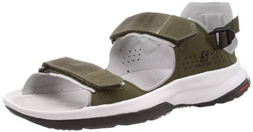 Salomon Unisex Tech Sandal Feel Walking Shoe,Braun/Weiß (Grape Leaf/Trellis/Quarry),40