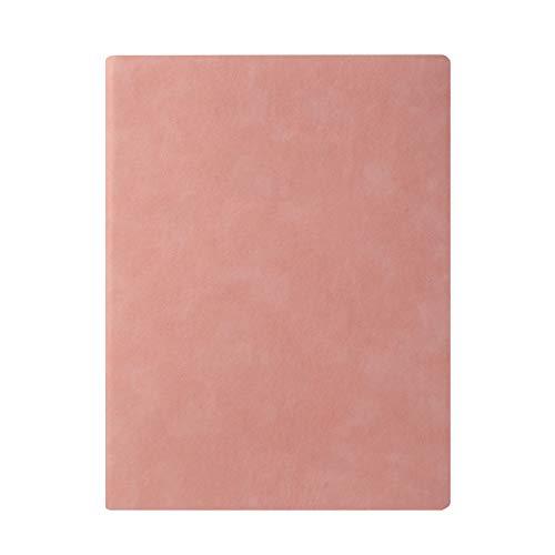Cuaderno De Cubierta De Gamuza Soft B5, Con Marcadores Bloqueo De Bloqueo Bloc De Notas Enlazado, Para Registros Diarios Reuniones De Negocios De Aprendizaje De Oficina, Rosa