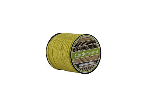 Cordamarket Seil, Dyneema, 4 mm, Unisex, für Erwachsene, Unisex-Erwachsene, CDMKDYA040025, gelb, 4mm a 25mts