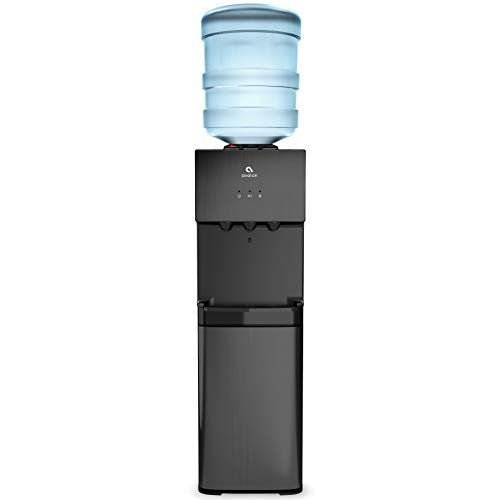 Avalon A10 Top Loading Water Cooler Dispenser, 3 Temperature, Child Safety Lock, UL/Energy Star, Black Stainless Steel