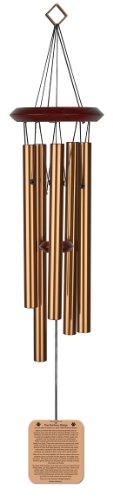 Chimesofyourlife rb-dog-19 Windspiel für Hunde, Regenbogenbrücke, Gedicht für Haustiere, 48 cm, bronzefarben