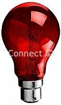 Wellco Bulk 60W BC (B22D) Fireglow Bulb Lamp Gloeilamp Deze rode vuurlamp is voor gebruik in elektrische branden om een ko...