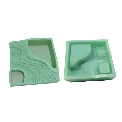 Cake Molds - 2019 Succulent Plant Flower Pot Silicone Mold Gypsum Cement Fleshy Bonsai Diy Ashtray Candle Holder - Small Rectangle Oven Heart Baking Dragon Girls Ball Letters Lamb Cake Gradua