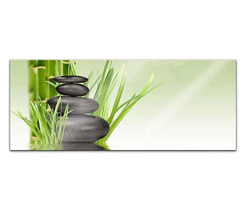 Acrylglasbild 100x40cm Wellness Zen Kat5 Steine Bambus Spa Acrylbild Acryl Bild UV Druck Acrylglas Tierwelt Acrylglasbilder 14G266