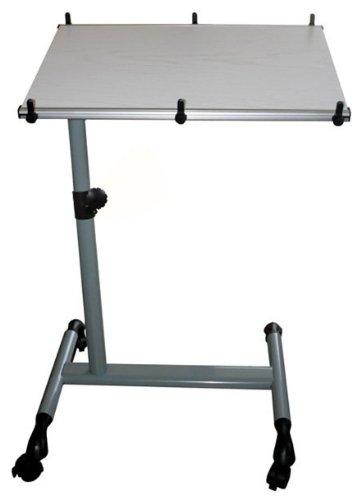 SoBuy Tavolo portatile,tavolo console,tavolo pieghevole, Altezza regolabile,FBT07N-W,IT