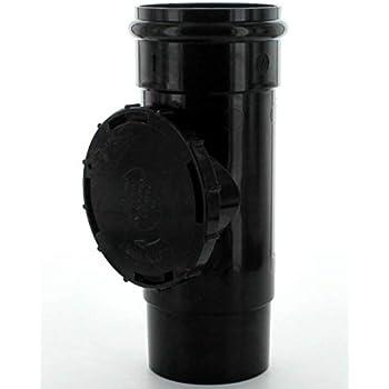 Osma 0T274B 68mm Access Pipe BLACK Rainwater Guttering PVC-U Wavin