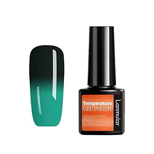 MinjiSF Uñas de gel con degradado cálido para salón de belleza, juego de uñas de gel de color, esmalte de uñas extraíble, 8 ml