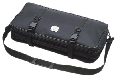 Mercer Culinary-Custodia a Tripla Zip per coltelli in Tela, e 21 Tasche, Colore: Nero