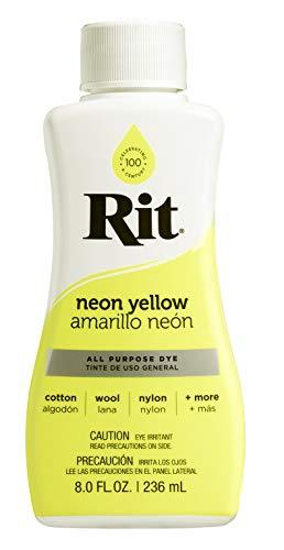 Rit 88260 Tela teñida, 8 oz, amarillo neón