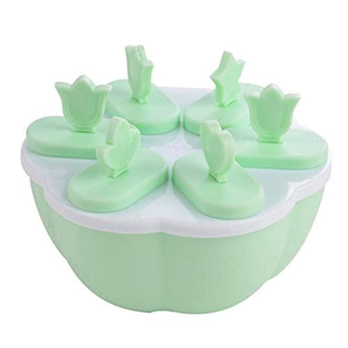Eogrokerr Molde de paletas para niños y adultos, tapa antiderrames, reutilizable para hielo, moldes de hielo para cocina en el hogar (B, 1 unidad)