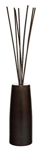 Millefiori Vaseförmigen Ellise Holz-Diffusor 250 ml Air Design inklusive Stäbchen, Dunkel Braun, 10.4 x 10.3 x 24.1 cm