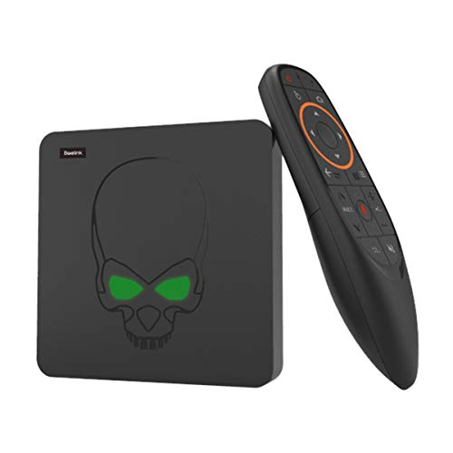 TV Box, Beelink GT-King Most Power Android Box Android 9.0 RAM 4Go LPDDR4+ROM 64Go eMMC CPU Amlogic S922X Hexa Core 4K 60fps WiFi 2.4G+5.8G 1000Mbps Soutien Télécommande Vocal 2.4G 2 x USB3.0 Noire