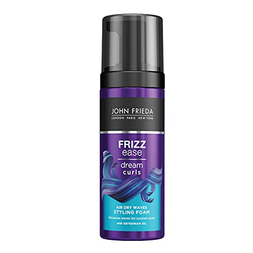 John Frieda Frizz Ease Dream Curls Air Dry Waves Styling Foam 150 ml for Naturally Wavy Hair