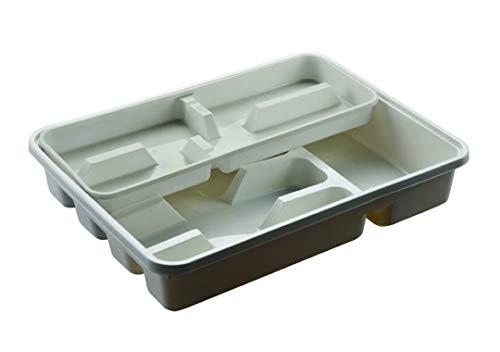 M-Home   Range Couverts   Plastique   Blanc Cassé   40 x 30,5 cm   MIXI   PLS585