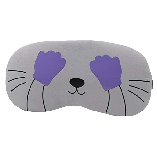 Givekoiu 2019 Cartoon Cute Fluffy Eye Mask for Sleeping Women Silky Fabric Sleep Mask Comfortable Blindfold Animal Sleeping Masks Breathable Skin-Friendly Filled Sleeping Eye Mask Nap Mask