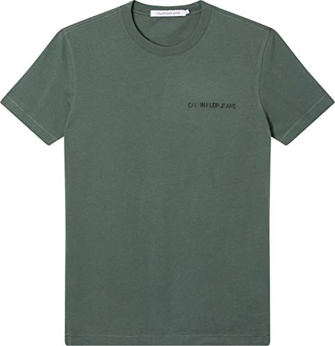 Calvin Klein Jeans INSTITUTIONAL Chest Logo SS tee Camiseta, Verde Pato, XXL para Hombre