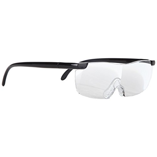 Magnifying Glasses for Crystal Clear Viewing – Handsfree +1.5 Power Magnification Focus Eyeglasses by Home-X