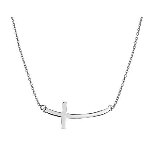 SOFIA MILANI Collar Mujer Cadena Colgante Cruz Plata de Ley 50234
