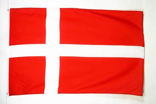 AZ FLAG Drapeau Danemark 250x150cm - Grand Drapeau Danois 150 x 250 cm