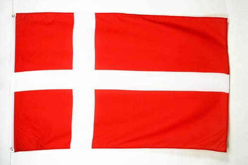 AZ FLAG Bandera de Dinamarca 150x90cm - Bandera DANESA 90 x 150 cm poliéster Ligero