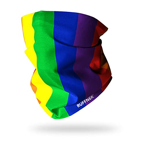 Ruffnek Regenbogen Design Schal Multifunktionstuch Kopfbedeckung Halswärmer Gesichtsmaske - für Männer, Frauen und Kinder