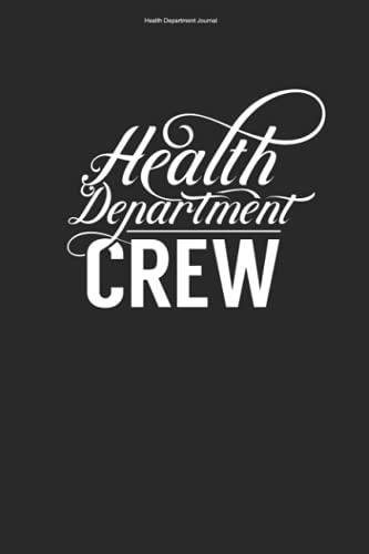Health Department Journal: 100 Pages | Dot Grid Interior | Nursing Service Department Cute Team Funny Health Worker Employee Nur
