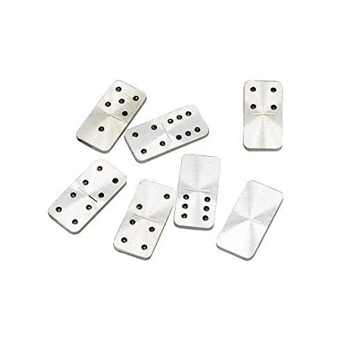 Juego de viaje Domino – Mini Domino Set de regalo con funda de transporte de aluminio