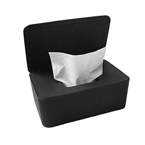 Kacniohen Wet Wipes Caja de Almacenamiento en seco de Tejido húmedo Caja de la servilleta Titular dispensador de toallitas húmedas con Tapa para la Seguridad del Buen Regalo