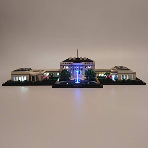 OATop LED Beleuchtungsset für Lego The White House Architecture Model 21054, Modernes Design LED Licht Kompatibel mit Lego 21054